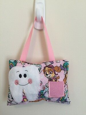 New Pink Toddler Puppy Dog Hero TOOTH FAIRY PILLOW - Gift Idea - BBCB