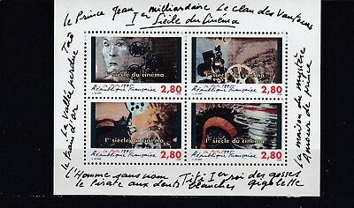 a109 - FRANCE - SGMS3236 MNH 1995  CENTENARY OF MOTION PICTURES