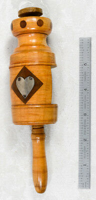 Fabulous Folk Art Sewing Clamp With A Heart And Inlay