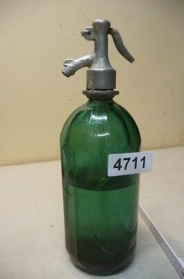 4711. Alte Sodaflasche  Siphonflasche 1 l Old soda siphon seltzer