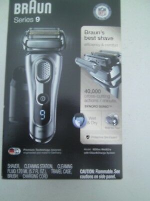 Braun Mens Shaver Series 9-Model # 9290Cc Wet/dry W/clean&charge System