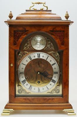 Rare Comitti 9 Bell Walnut & Glass Triple Chime Musical Regulator Bracket Clock