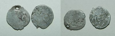 2 X Small Old Silver Coins - Islamic - Middle Ages