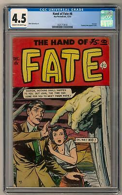 Hand of Fate #8 CGC 4.5 (C-OW) 1st Issue Formally Men Against Crime