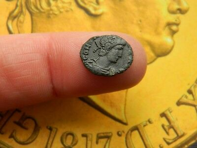 Un - Researched Roman Bronze coin Emperor ? metal detecting detector
