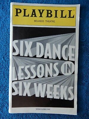 Six Dance Lessons In Six Weeks - Belasco Theatre Playbill - October 2003