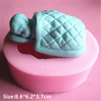 Sleeping Baby Silicone Cake Mould Fondant Sugar Soap Chocolate Decorate Tool