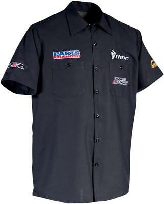 Throttle Threads Team Parts Unlimited Shop Shirt Black Large