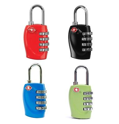 TSA Approved 4 Digit Combination Suitcase Luggage Security Padlock Travel Lock