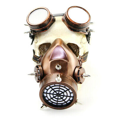 Retro Steam Punk Gothic Goggles Blinkers Gas Mask For Women Men Party