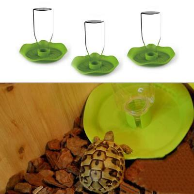 Reptile Pet Tortoise Automatic Food Drink Water Dispenser Feeder Round Favor