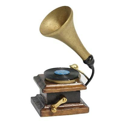 1/12th Dolls House Miniature Accessory Phonograph Gramophone Record Player UKGRL