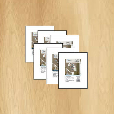 Mainstays 8x10 Matted To 5x7 Format Picture Frame Set Of 6 Front