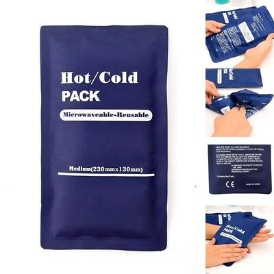 Hot and Cold Heat Ice Gel Pack for First Aid Sports Muscle / Back Pain PVC UKLQ
