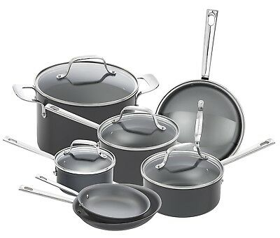 Emeril Lagasse 12 Piece Hard Anodized Nonstick  Cookware Set NEW