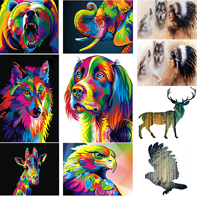 HD Canvas Print Home Decor Wall Adornment Art Painting Picture Decor-Wolf/ Udww