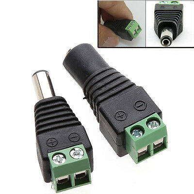 5/10x Male Female Power Jack Adapter Connector Plug for 3528 5050 SMD Led  Uxym