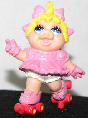"Estate: The Muppets & Yes its Baby Ms Piggy on roller Skates 3"" Tall Hard Rubber"
