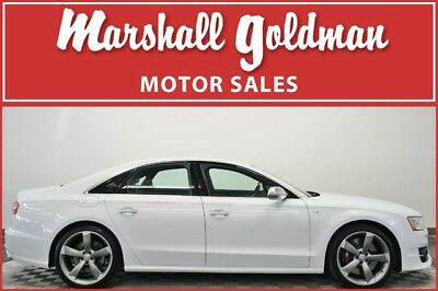 2016 Audi S8 Base Sedan 4-Door 2016 S8 in Glacier White Metallic with Black leather interior only 7,700 miles