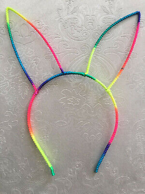 50 BLESSING Good Girl Boutique Modern Style Headband Cat Ear Rainbow