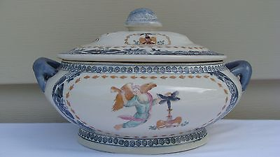 Early 20Th Century Chinese Export Porcelain Soup Tureen #3
