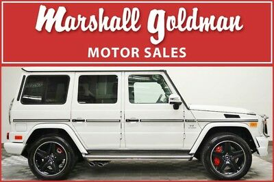 2014 Mercedes-Benz G-Class Base Sport Utility 4-Door 2014 Mercedes Benz G63 in Polar White over Black with only 26,500 miles