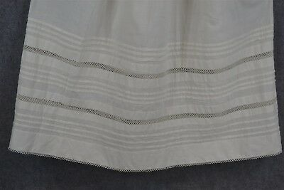 baby slip petticoat cotton tatted lace pleated hand stitched Civil War antique
