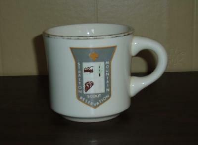 VINTAGE 1970s BOY SCOUTS OF CANADA STRATTON MOUNTAIN RESERVATION COFFEE MUG USED