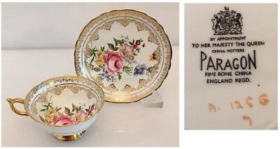 Paragon Fine Bone China Cabage Roses Cup & Saucer