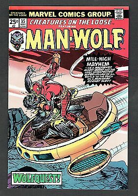 Creatures On The Loose Feat. Man-Wolf #35 Marvel Comics 1975 Vf+ George Perez