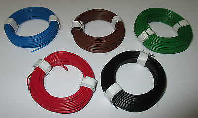 [1m = Hook-Up Wire 0,5MM Copper 5 Rings A 10 Meter Enlisting COLOUR SELECTION