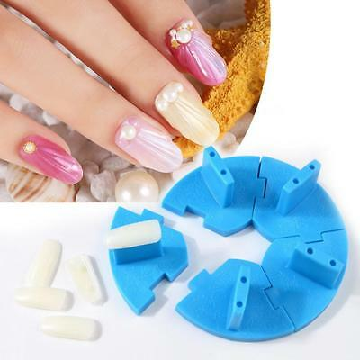 Easy to UseFalse Nail Tips Display Practice Stand Holder Plastic Nail Art  Uzlh