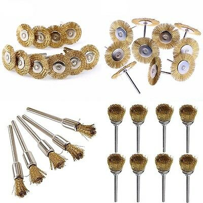 10Pcs Steel Wire Brush Kit Set Flat Brass Brush Cup Flat Wheel Wire Wheel  Zccj