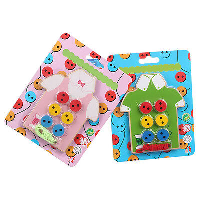 Threading Button Beads Lacing Board For Children Kids Student Educational  Zccj