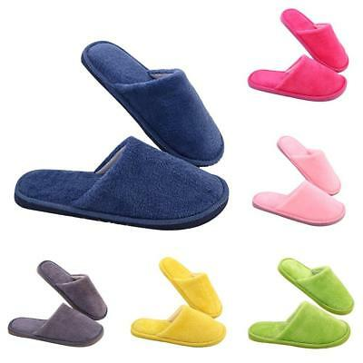 Womens Mens Winter Warm Cotton Plush Slippers Couple Slippers Home Indoor  Udww