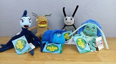5 Disney Store Pixar A Bugs Life Beanies Plush/Soft Toys With Tags