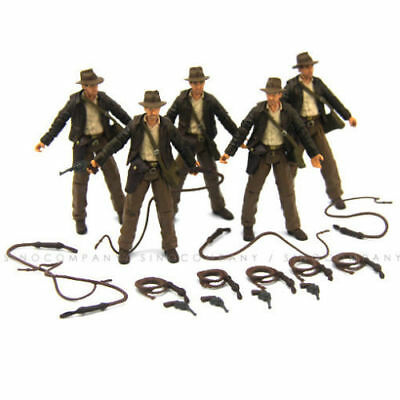 "Lot 5pcs INDIANA JONES RAIDERS OF LOST ARK JOINTED 3.75"" FIGURE Hasbro toy gift"