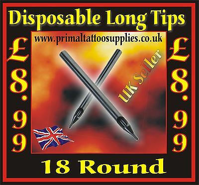 50 disposable tips 18 Round - (Tattoo Supplies - Grips - Inks - Tattoo Needles)