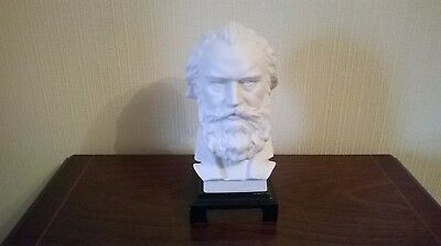 "William Goebel Brahms Porcelain Bust "" German Composer 1833 ~ 1897"""