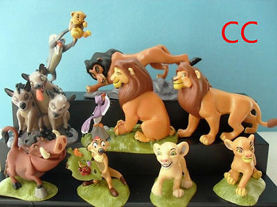 9pc Hot Movie The Lion King Action figures Toy Set Cake Topper Simba Nala gift A