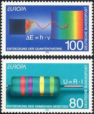 Germany 1994 Europa/Discoveries/Science/Electricity/Spectrum/Physics 2v (n45018)