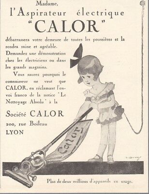 1926 Print Ad Calor Electric Vacuum Cleaner by G. Lavey