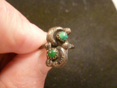 Vintage Sterling Silver Ring With Torquoise Stone Size 5.5