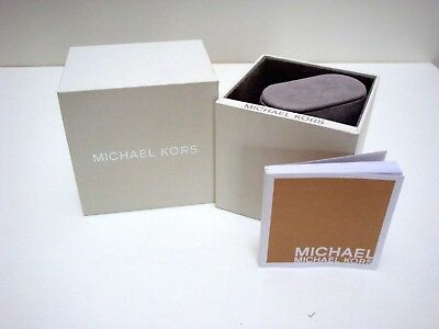 Genuine Michael Kors White Watch Box with Watch Instruction Booklet ~ New
