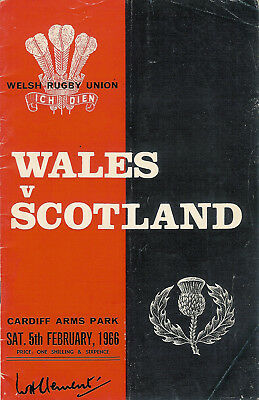 WALES v SCOTLAND 1966 RUGBY PROGRAMME at CARDIFF ARMS PARK