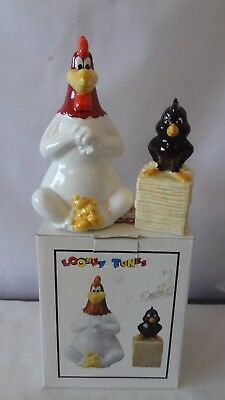 Warner Brothers 1993 Foghorn Leghorn & Henry Hawk Salt and Pepper Shakers #J524