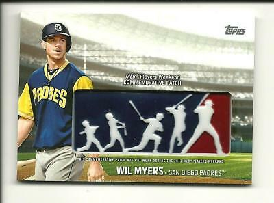 fef3ff194a9 2018 Topps Series 1 Players Weekend Logo Patch Card Wil Myers PWP-WM Padres