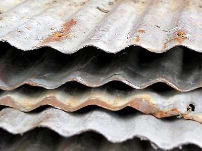 *reclaimed Corrugated  Tin Roofing {Full Sheets Available } 1 Sq Ft Sample