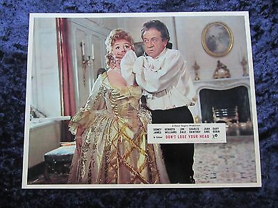 CARRY ON DON'T LOSE YOUR HEAD  lobby card #2 SIDNEY JAMES, JOAN SIMS