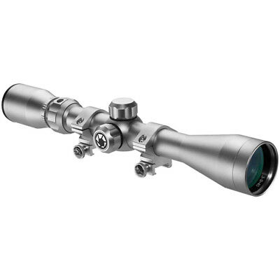 Barska 3-9x  40mm Riflescope 30/30 Reticle in Silver with Rings, CO11538